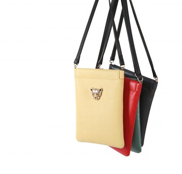 Yellow Capsule Clutch Cross Body bag