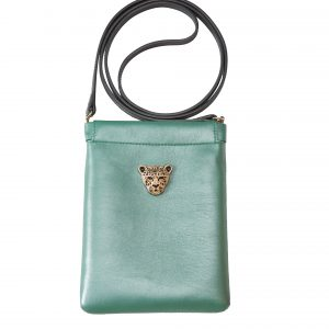 Green Capsule Clutch cross body bag