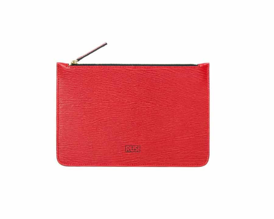 Elegant Leather Pouch in Red