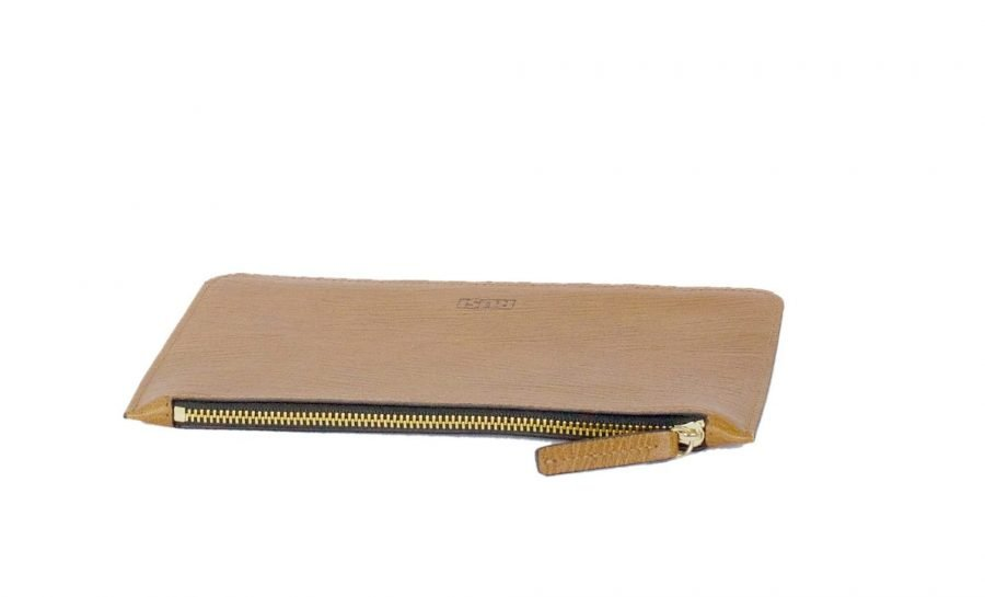 Elegant leather pouch Tan Brown